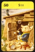 Piglet outside his sty, playing card