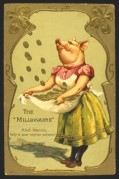Pig Greeting Card, The Millionaire