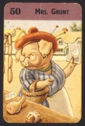 Pig playing card, Mrs Grunt