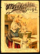Magazie cover showing piglets at bathtime