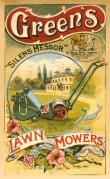Advert for Green's Lawn Mowers