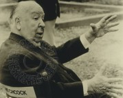 Alfred Hitchcock on location