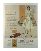 Advert for the Invincible Vacuum Cleaner
