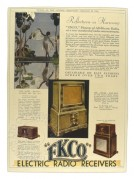 Advert for EKCO bakerlite radios