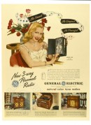 Advert for General Electric 'New 3-way Personal Radios'