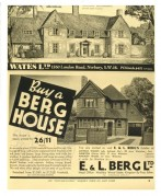 Adverts for Wates and Berg Houses