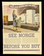 Advert for Norge White Goods, Toronto