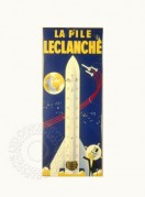 French showcard for Leclanche batteries
