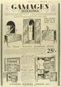 Gamages Furniture Advert
