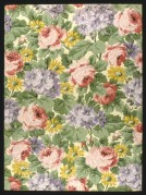German Flowers furnishing fabric sample