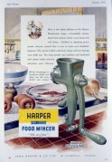 Advert for Harper Food Mincer