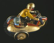 Clockwork Motorcyle with Sidecar toy