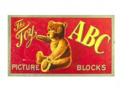 Box lid for ABC Toys' Picture Blocks