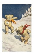 Teddy Bears Play Snowballs