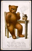 Teddy Bear Smoking a Pipe