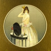 Illustration of a lady at her toilette