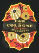 Label for 'Origan' Eau de Cologne