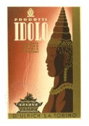 Advert for Idolo powders and perfumes