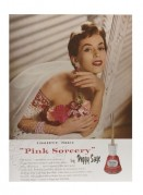 Advert for Pink Sorcery nail polish by Peggy Sage