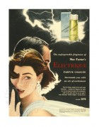 Advert for Max Factor's Electrique Perfume