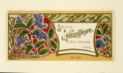 Label for L'Heliotrope Soap