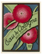 French Eau de Cologne Label