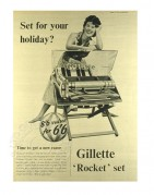 Advert for Gillette 'Rocket' set