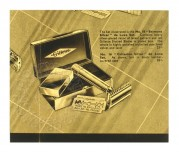 Advert for Gillette's 'Belmont Silver' deluxe set