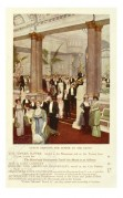 Guests arriving for supper at the Savoy, London