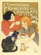 Advert for Compagnie Francaise Chocolate and Tea drinks