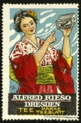Advert for Alfred Rieso Tea