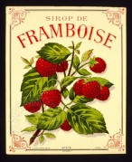Label for Sirop de Framboise