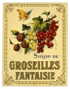 Label for Sirop de Groseilles Fantaisie
