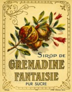 Label for Sirop de Grenadine  Fantaisie