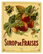 Label for Sirop de Fraise