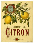 Label for Sirop de Citron