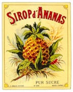 Label for Sirop d'Ananas
