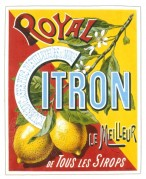 Label for Royal Citron