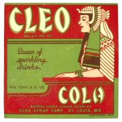Label for Cleo Cola