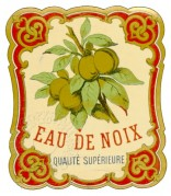 Label for Eaux de Noix