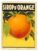 Orange Syrup Label