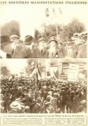 Demonstrations in the the streets of Milan for War