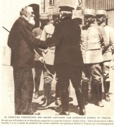 Mr Poincare with his former captain and General Dubail Roques