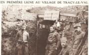 The Frontline in the village of Tracy-Le-Val