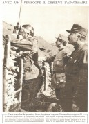 General Franchet observes the enemy with a periscope