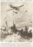 A Plane bombs a U-Boat in the Adriatic