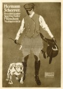 Advert for Hermann Scherrer, tailor