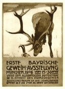 Poster for Bavarian hunting festival
