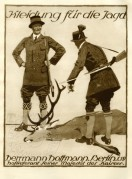 Advert for hunting clothes by Hermann Hoffman