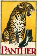 Colour advert for Panther footwear